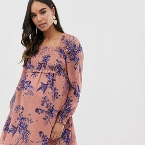 ASOS DESIGN shirred square neck dress